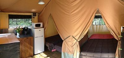 Bungalow en toile Camping Soubès